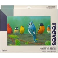 "Paint By Number Kit Artist's Collection 12""X16""-Rail Birds"