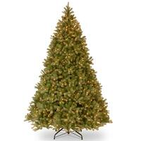 10' Pre-Lit Downswept Fir Artificial Christmas Tree - Clear Lights - green