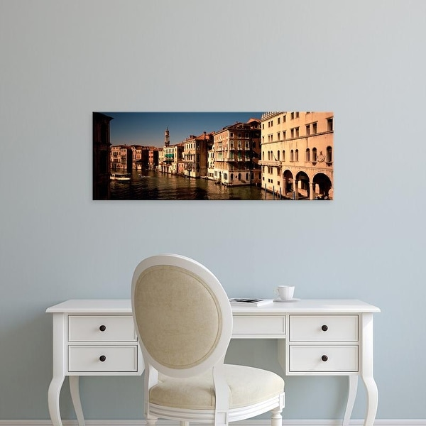 Easy Art Prints Panoramic Images's 'Buildings on the waterfront, Venice, Italy' Premium Canvas Art