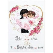 """7""""X9.5"""" 14 Count - Wedding Metric Counted Cross Stitch Kit"""