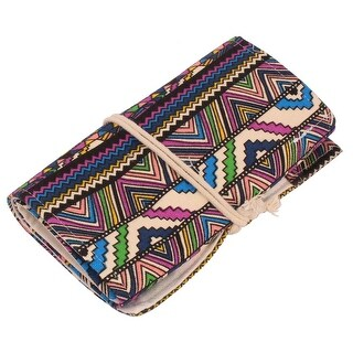 Student Canvas Wrap Roll Up 36 Holes Pen Brushes Bag Holder Case Pouch Colorful