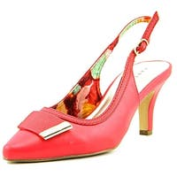 Karen Scott Womens GRACELYNN Pointed Toe SlingBack Mary Jane Pumps