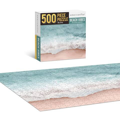 "Americanflat 500 Piece Jigsaw Puzzle 18""x24"" - Beach Vibes by Hope Bainridge - 18x24"