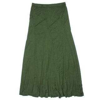 Studio M Womens Jersey Heathered Maxi Skirt