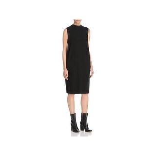 Eileen Fisher Womens Petites Wear to Work Dress Mock Neck Sleeveless