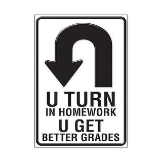 U Turn In Homework Lp Large Posters