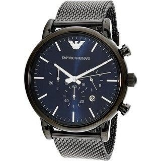 Emporio Armani Men's AR1979 Black Stainless-Steel Plated Quartz Dress Watch