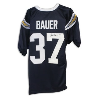 Hank Bauer San Diego Chargers Autographed Blue Jersey