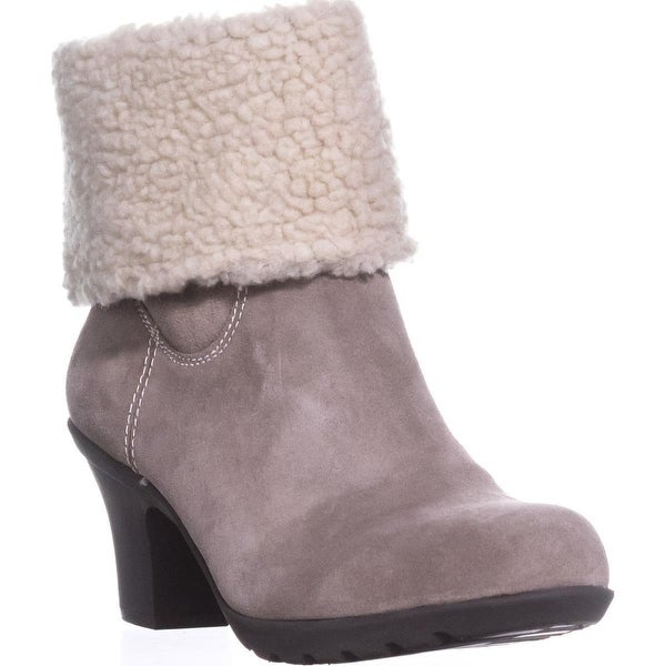 Anne Klein Heward Cuffed Ankle Winter Boots, Taupe/Taupe