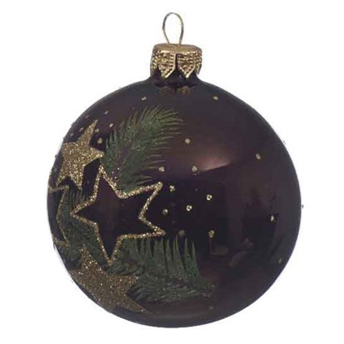 Pine Cone Star Glass Ball