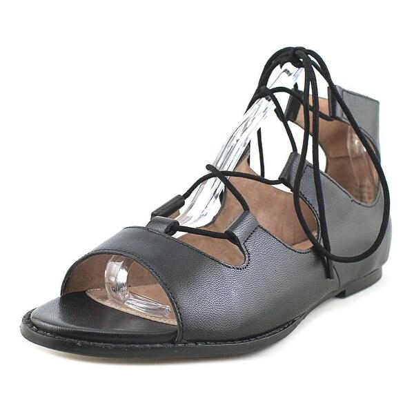 Seychelles Standard Women Open Toe Leather Black Gladiator Sandal