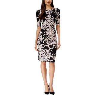 Connected Apparel Womens Casual Dress Printed Sheath - 12