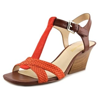 Nine West Geralda Women Open Toe Leather Orange Sandals
