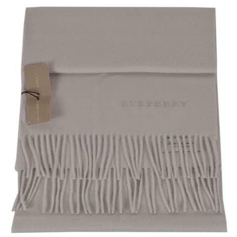 """New Burberry Cashmere Stone Beige Scarf Muffler - 66"""" x 12"""""""