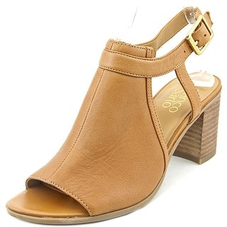 Franco Sarto Harlet Women Open Toe Leather Tan Sandals