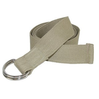 CTM® Canvas Fabric Belt with D Ring Buckle - One size