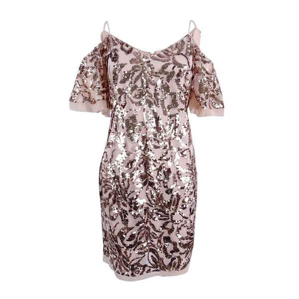c8834de1a4c20 Shop Vince Camuto Women's Sequined Cold-Shoulder Dress - Free Shipping  Today - Overstock - 22988667