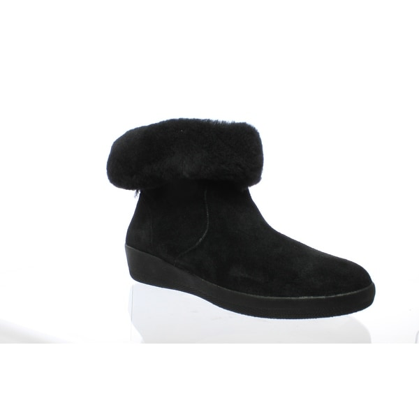 6da744767f6a Shop FitFlop Womens Skatebooties Black Snow Boots Size 7.5 - On Sale ...