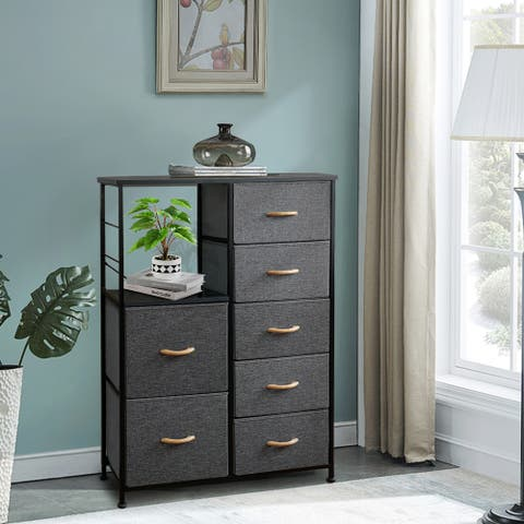 Crestlive Products 7 Drawers Vertical Chest Dresser Storage Tower