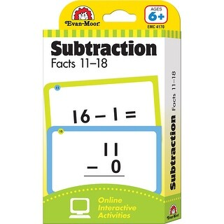 (6 Pk) Flashcard Set Subtraction Facts 11 To 18