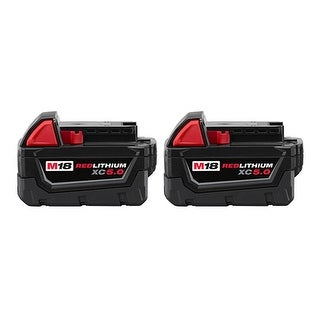 Replacement 5000mAh Battery for Milwaukee 2712-22 / 2757-20 / 2866-22CT Power Tools (2 Pk)
