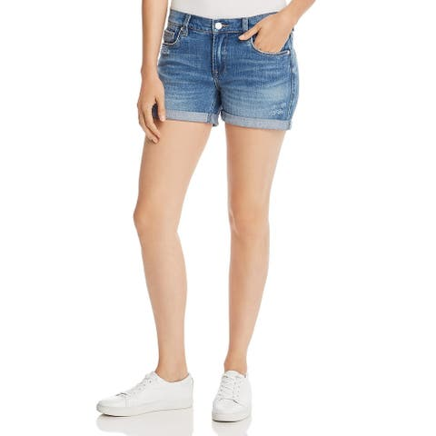 [BLANKNYC] Womens Fulton Denim Shorts Distressed Cuffed - Moon Child