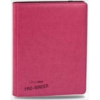 Ultra Pro 84197 Premium 9-Pocket Bright Pink Binder