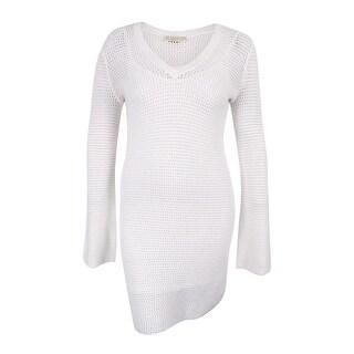 MICHAEL Michael Kors Women's Bell-Sleeve Mesh Illusion Dress
