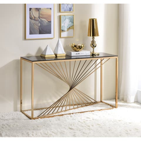 Furniture of America Limback Contemporary Geometric Sofa Table