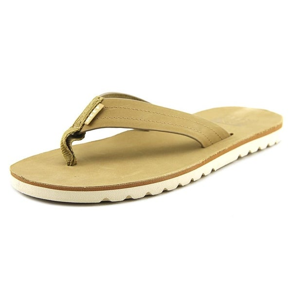 Reef Voyage Men Open Toe Leather Tan Thong Sandal