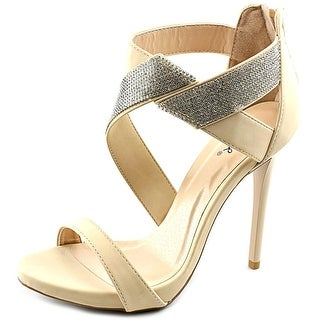Qupid Gladly-15 Women Open Toe Synthetic Nude Sandals