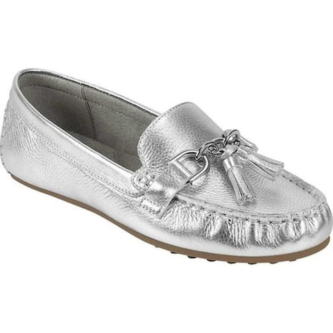 Aerosoles Women's Platinum Soft Drive Loafer Silver Metallic