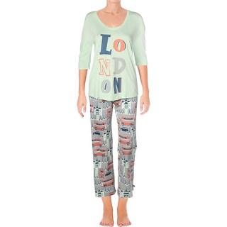 Munki Munki Womens London Pajama Set Printed Jogger