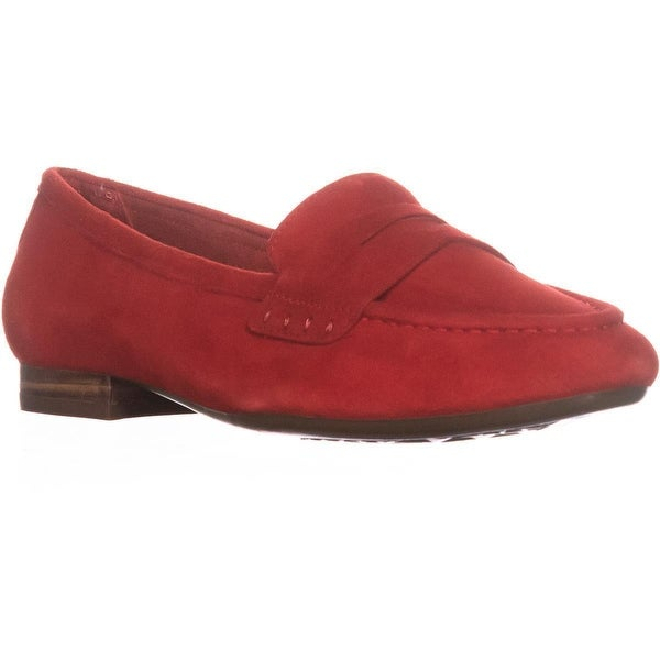 Aerosoles Map Out Slip On Loafers , Red