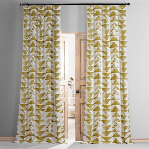 Exclusive Fabrics Triad Printed Cotton Hotel Blackout Curtain