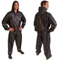 GoFit Hooded Thermal Training Sweat Suit Sauna Suit - Black