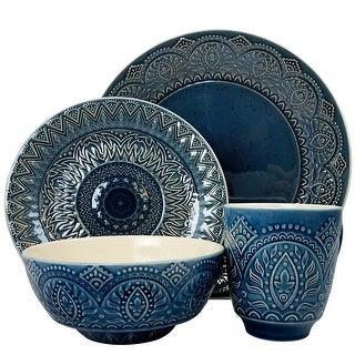 Elama ELM-PETRA Petra 16 Piece Stoneware Dinnerware Set