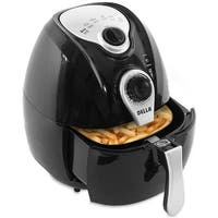 Della Electric Air Fryer w/ Temperature Control, Detachable Basket and Handle - Black, 1500W