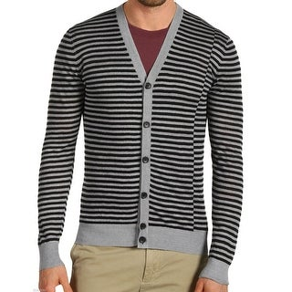Theory NEW Gray Mens Size XL Striped Button Down Cardigan Sweater