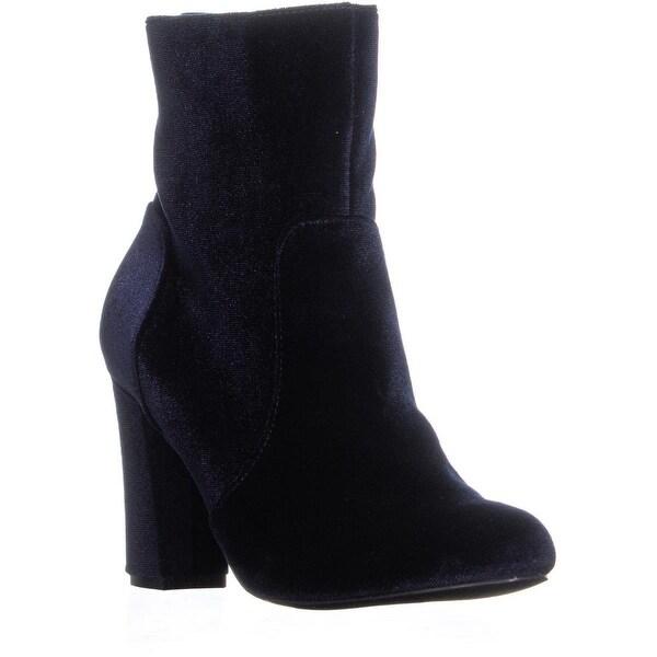 3d9358d19b7 Shop Madden Girl Farrley Block Heel Zip Up Ankle Boots, Navy - 7 US ...