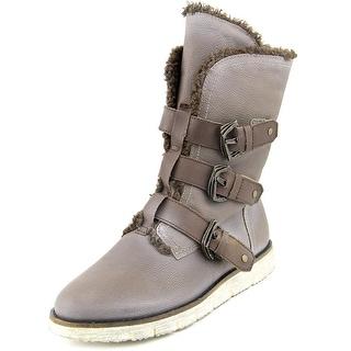 OTBT Black Jack Women Round Toe Leather Winter Boot