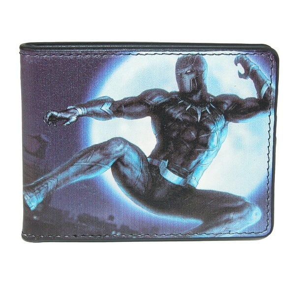 Marvel Men's Black Panther Action Bifold Wallet - One size