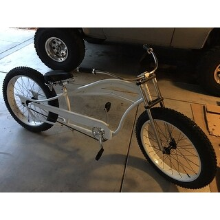 Seattle White Stainless-steel 26-inch Stretch Cruiser
