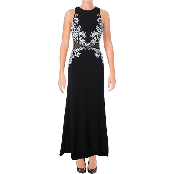 a74b1bb1156c Shop Avery G Womens Evening Dress Embroidered Sequined - Free ...