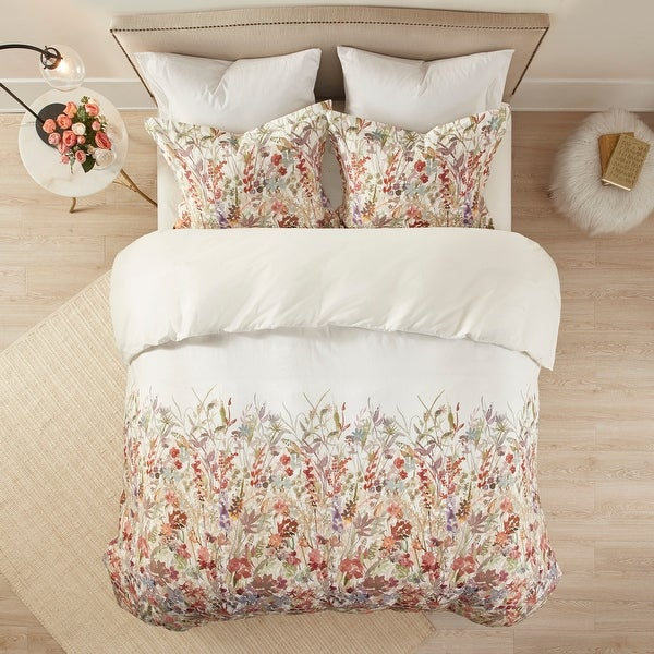 Madison Park Fiona Cotton Printed Duvet Cover Set. Opens flyout.