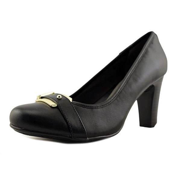 Eurosoft by Sofft Beatrice Women Round Toe Leather Black Heels