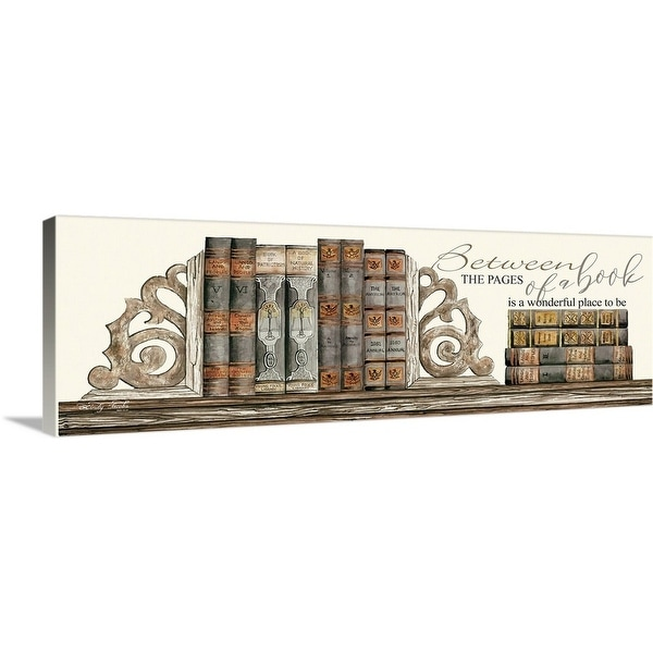 """""""Between the Pages of a Book"""" Canvas Wall Art"""