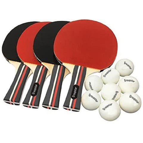 Sport 4 Paddles and 8 ABS Tournament Sport Balls Ping Pong Set