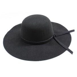 Womens Wide Brim Floppy Felt Hat with Matching Tie