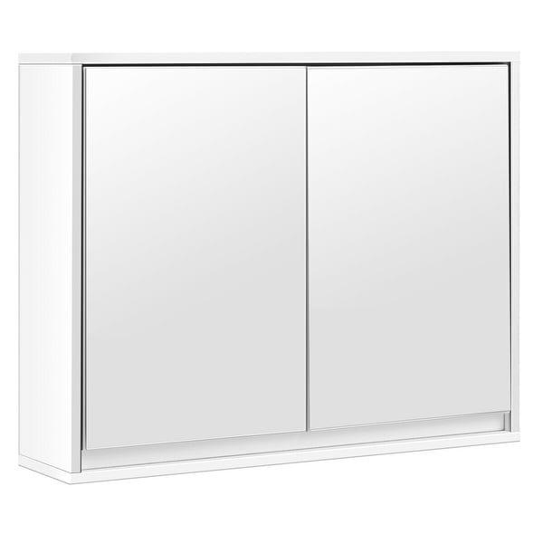 Wall Mounted Bathroom Cabinet Double Mirror Door Shelf